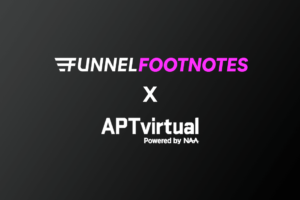 Funnel Footnotes logo with APTVirtual logo